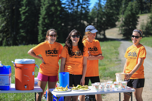 Yay for Wonderful Volunteers! (Photo Credit: Siskiyou Out Back Trail Race Website)